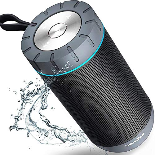 COMISO Waterproof Bluetooth Speakers Outdoor Wireless Portable Speaker with 24 Hours Playtime Superior Sound for Camping, Beach, Sports, Pool Party, Shower