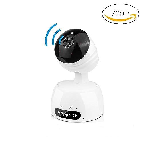XYXtech Caméra Dôme Surveillance, IP Cam HD 720p, Motorisé PTZ Pan/Tilt / Zoom, 2 Voies Audio, Détecteur de Mouvement, WiFi, Night Vision (Blanche)