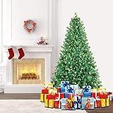 SHareconn 198cm Qualité Sapin Artificiel de Noël Arbre avec 300 lumières & Stand,6.5ft