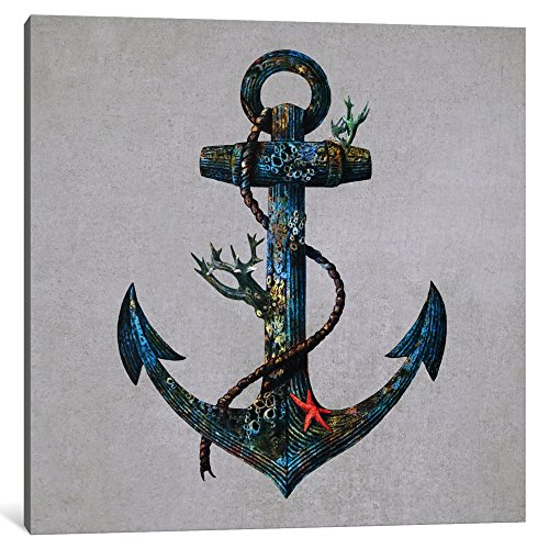 iCanvasART Lost at Sea Square No.1 Canvas Print by Terry Fan...
