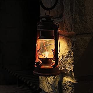 NEBO Old Red LED Lantern w/ Realistic Flicker Flame