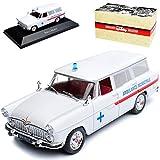 Atlas Simca Vedette Kombi Marly Ambulance Krankenwagen Weiss 1954-1966 1/43 Modell Auto mit individiuellem Wunschkennzeichen