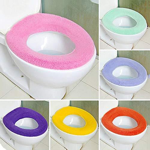 WC Sitzbezug Weicher Toilettensitz Bezug Rund Warm Matte Waschbar O Pads Cover