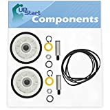 2 12001541 Drum Support Roller Kit & 1 312959 Belt Replacement for Maytag LDE8506ACE Dryer - Compatible with 303373 Drum Roller Wheel & WPY312959 Belt - UpStart Components Brand