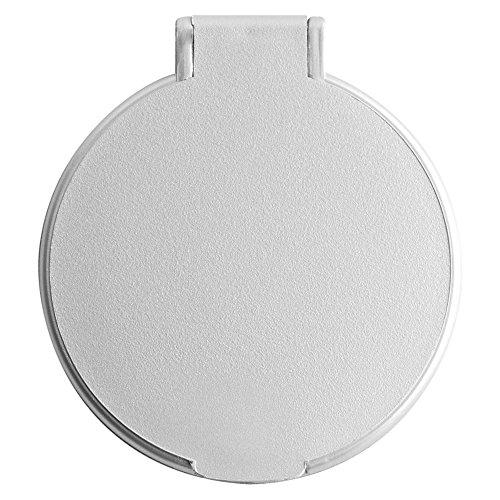 eBuyGB Kompakter Kosmetik-Handtaschen-Kosmetikspiegel, zusammenklappbar, Kosmetikspiegel, Silber (Silber) - 1261616