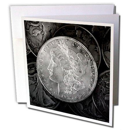1887Liberty plata Dólar moneda de único foto de clásico–Tarjetas de felicitación, 6x…