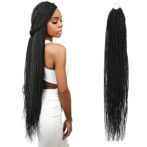 6 Packs 32 Inch AU-THEN-TIC Senegalese Twist Crochet Braids Hair Small Havana...