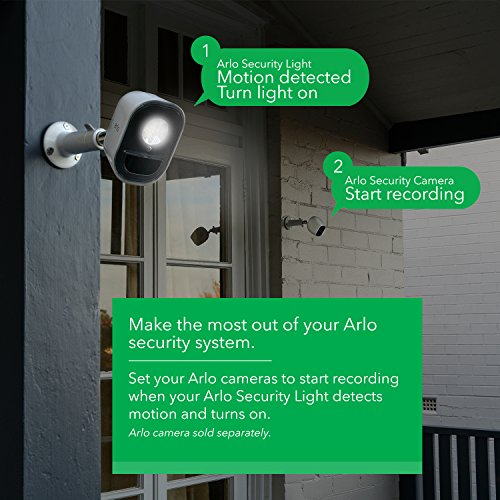 Arlo Lights - Smart Home Security Light | Wireless, Weather Resistant, Motion Sensor, Indoor/Outdoor, Multi-colored LED| 2 Light Kit  (ALS1102) camera not included