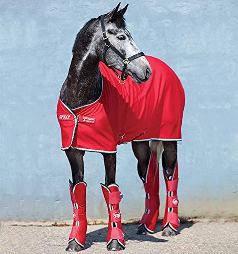 Horseware Amigo Jersey Cooler - Red/White, Größe:145