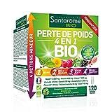 Santarome Bio Perte de Poids 4 en 1 120 Gélules Complément Alimentaire Minceur Programme 1 Mois