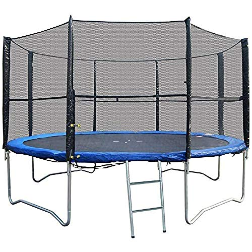 BodyRip 10FT 8-Poled Trampoline Net | Premium Bounce Safety Replacement, Enlosure Netting | Includes Net Only, 4x5mm Polystyrene Mesh Holes
