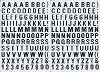 (シャシャン)XIAXIN 防水 PVC製 アルファベット ステッカー セット 耐候 耐水 ローマ字 キャラクター 表札 スーツケース ネームプレート ロッカー 屋内外 兼用 TSS-595 (2)