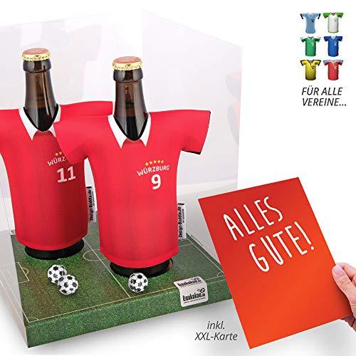 Der Trikotkühler   Das Männergeschenk für WÜRZBURGER Kickers-Fans   Langlebige Geschenkidee Ehe-Mann Freund Vater Geburtstag   Bier-Flaschenkühler by Ligakakao