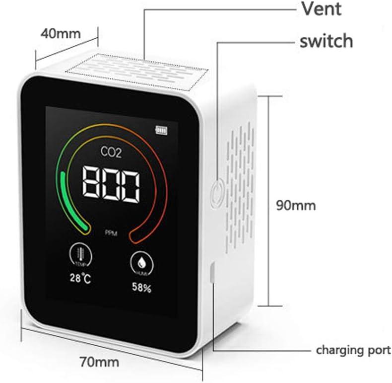 Air Quality Meter Galapara CO2 Carbon Dioxide Detector Intelligentes CO2 Temperatur Feuchtigkeits Mehrzweckdetektor Tool f/ür gro/ße Bildschirme USB Luftqualit/ätsmonitor Testinstrument Haushalt