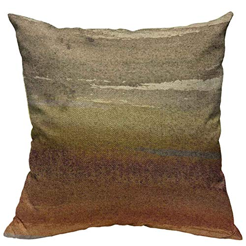 VERSUSWOLF Throw Pillow Covers Western Tribal Geometric Brown Southwest Cotton Linen Decorative Square Pillowcases Cushion Cover 18 X 18 Inch