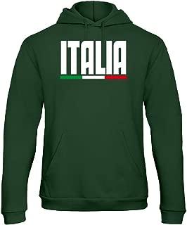 Felpa Italia   Ufficiale con zip Sweat Sweatshirt uomo  tricolore ITALIA