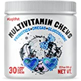 LEGITPET'S HIGH-QUALITY DAILY HEALTH MULTIVITAMINS FOR DOGS: the best functional chew supplement including glucosamine, MMS, probiotics, vitamins and omegas for overall pet health and immune function boost. For puppies (12+ weeks) and senior dogs HIP...