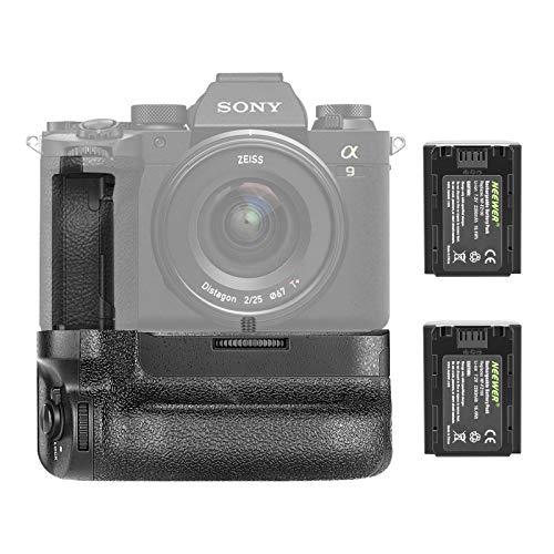 Neewer Vertikaler Batteriegriff Kompatibel mit Sony A7IV A9II A7RIV Kameras, Ersatz für Sony VG-C4EM mit 2 Stück 7,2V 2280mAh 16,4 Wh wiederaufladbaren Li-Ionen Akkus