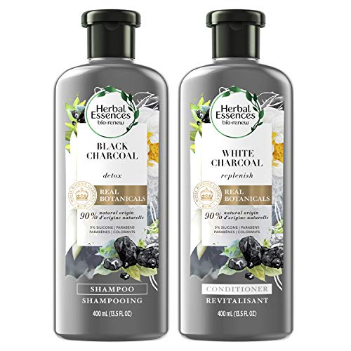 Herbal Essences, Shampoo and Conditioner Kit With Natural Source Ingredients, Color Safe, BioRenew Detox Charcoal, 13.5 fl oz, Kit