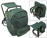Roddarch Fishing Tackle Seat Bag Backpack Rucksack Camping Stool Seat Box Tackle Box