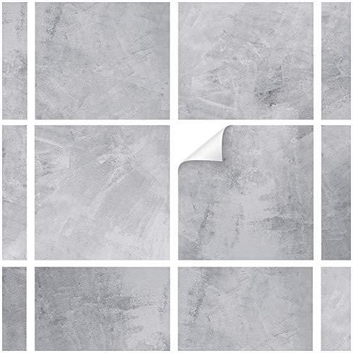 Yabaduu Y042 - Adesivi per piastrelle da cucina, bagno, motivo pietra naturale, 10 pezzi