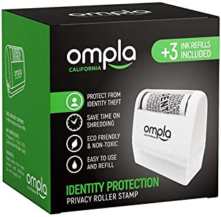 [2021 Updated] Ompla Identity Theft Data Protection Roller Stamp - Includes 3 Ink Refills