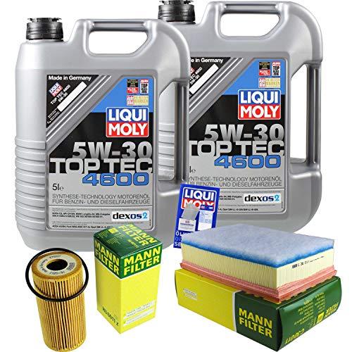 Preisvergleich Produktbild Filter Set Inspektionspaket 10 Liter Liqui Moly Motoröl Top Tec 4600 5W-30 MANN-FILTER Luftfilter Ölfilter