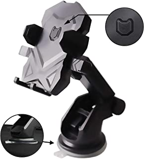Phone Holder for Car, MANORDS Universal Long Neck One Touch Car Mount Holder Compatible iPhone Xs XSMax XR X 8 8 Plus 7 7 Plus Samsung Galaxy S10 S9 S8 S7 S6 LG Nexus Sony and More