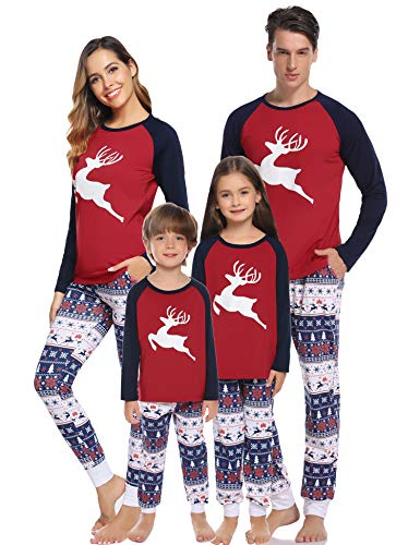 Hawiton Family Christmas Matching Pajamas Set, (Dad-Medium, Xmas Deer)