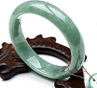 سوار اليشم الطبيعي، أساور للنساء، صناعة يدوية، مصقول بدقة، أساور نسائية من الحجر الطبيعي للنساء، 54-56 ملم
