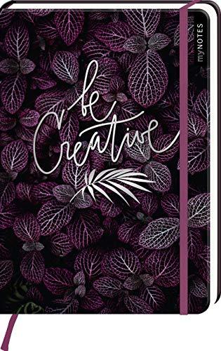 myNOTES Notizbuch A5: Be creative - notebook medium, dotted - für Träume, Pläne und Ideen / ideal als Bullet Journal oder Tagebuch