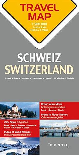 Switzerland Travel Map - 1:200,000 (English and German Edition) - 51DnTBDrbvL