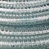 Tubo in PVC con Spirale in Acciaio per Mandata e Aspirazione Acqua e Fluidi Inerti, VENDITA A METRAGGIO (Diam. Int. 60 mm)