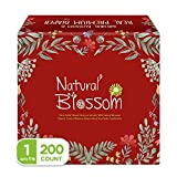Natural Blossom Baby Diapers Size 1 Newborn (Up to 11lbs) Super Soft Hypoallergenic Ultra-Slim Disposable Diaper for Sensitive Skin (200 ct)