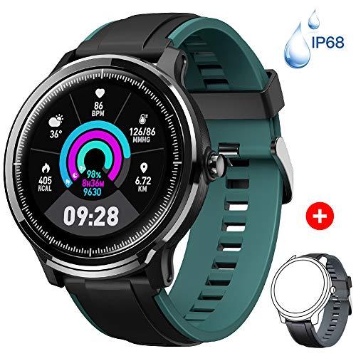 Fitness Tracker,Orologio Fitness Activity Tracker Impermeabile IP67 Cardiofrequenzimetro Polso Contapassi Braccialetto Pedometro 14 Modalità Sport per Uomo Donna Notifiche SNS per Android iOS-Nero