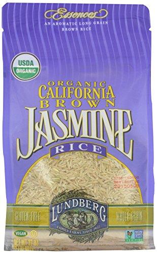 Lundberg Organic Rice - Jasmine Brown, 32 Ounce (Pack of 1)