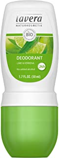 lavera Natural Roll-on Lime Deodorant: Aluminum-Free Odor Protection & Wetness Relief with Organic and Vegan Lime & Verbena – all Day Fresh – 1.6 Oz