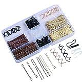 356 Stück Bobby Haarnadeln, Haarspangen und U Haarnadel, Haarspangen mit Aufbewahrungsbox, U Haarspangen, für Frauen und Mädchen um Haare zu Binden um Frisuren zu Entwerfen