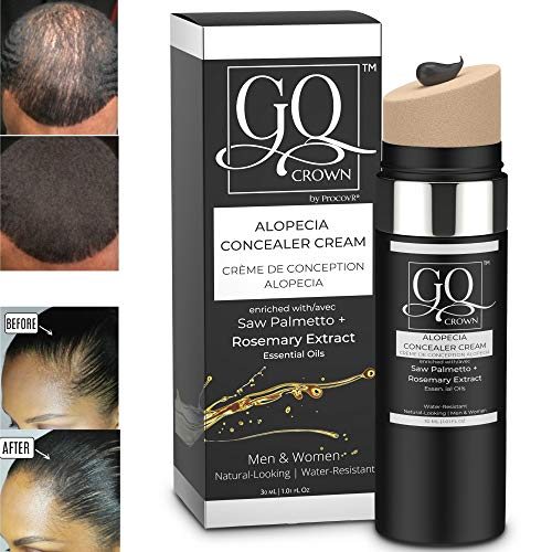 Hairline Hair Shade Scalp Concealer for Thinning & Balding with DHT Blockers Saw Palmetto & Rosemary Extract for Hair Loss - Grey Root Touch Up, More Natural than Hair Fibers & Hair Line Powder