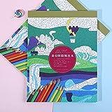 Livre De Coloriage Pour Enfants Adultes Papercrafts Peinture Livres Voyage Jeu Puzzle Jouets Dessin Pads Livres DIY Livre De Coloriage (1)