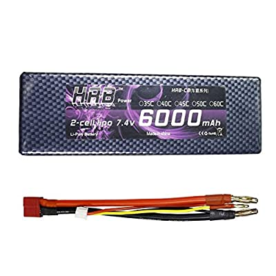 HRB 2s 7.4v 6000mah 60c Li-poly Lipo Battery Hard Case For RC Model Car Boat Truck Buggy