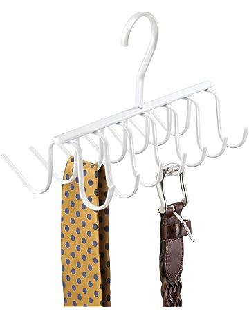 4 Pcs YUESEN Perchas Cinturones Gancho Giratorio para Colgar Bolsos Colores al Azar pl/ástico Creativo del Armario de la Correa de la Bufanda del Lazo Monedero del sostenedor del Estante