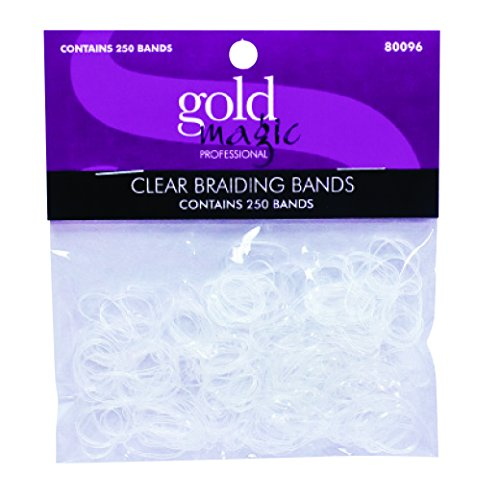 Gold Magic Elastic Braiding Bands, Clear