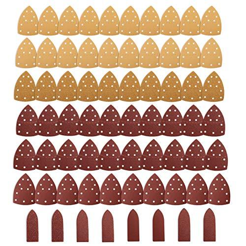 Schleifblätter, Jellas 68 Stück Schleifpapiere mit Klettverschluss für Bosch PSM 100A, PSM 160, PSM 200 AES, PSM 18, PDA 180, je 10 Stück in Körnung 40/60/80/120/180/240 sowie Fingerschleifpapiere