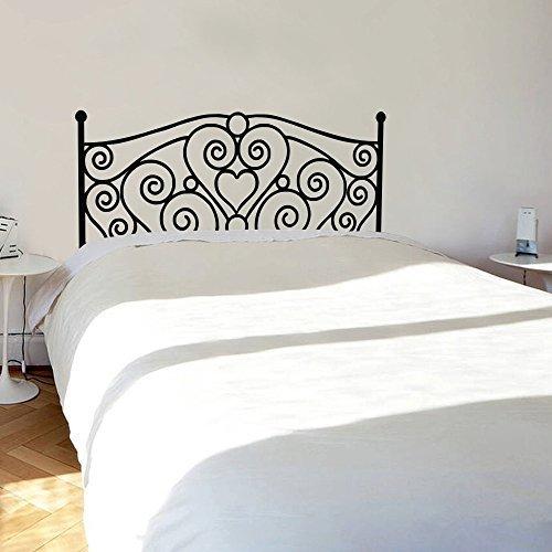 Vinilo decorativo para cabecero de cama Shabby Chic para dormitorio cabecero de cama blanco Queen Art calcomanía Home Vinilo Murales