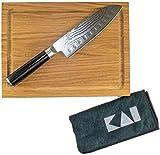 Kai Shun Classic Santoku (DM-0718) - Tabla de cortar (18 cm, roble de 30 x 22 cm)