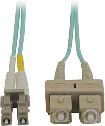 TRIPP-LITE 10Gb Duplex Multimode 50/125 OM3 LSZH Fiber Patch Cable (LC/SC) - Aqua, 1M (3-ft.)(N816-01M)