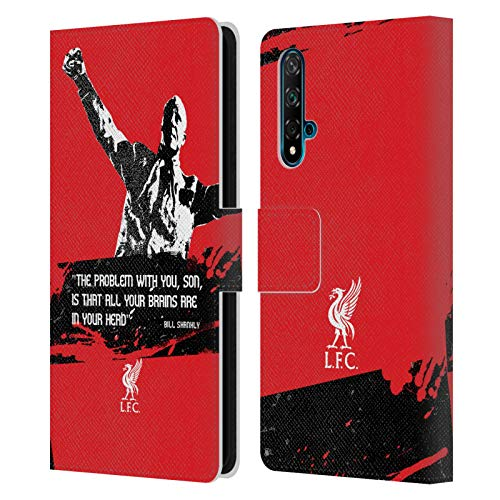 Head Case Designs Licenciado Oficialmente Liverpool Football Club Problema Medio Citas del Bill Shankey Carcasa de Cuero Tipo Libro Compatible con Huawei Nova 5T
