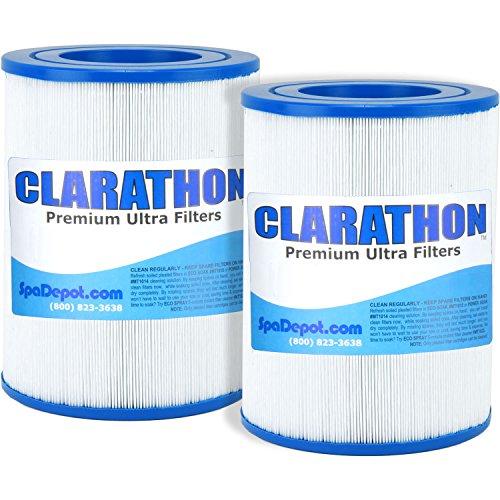 [2] AquaRest/Dream Maker Hot Tub Spa Filters (Round Cartridge) Aqua Rest Twin Pack by Clarathon