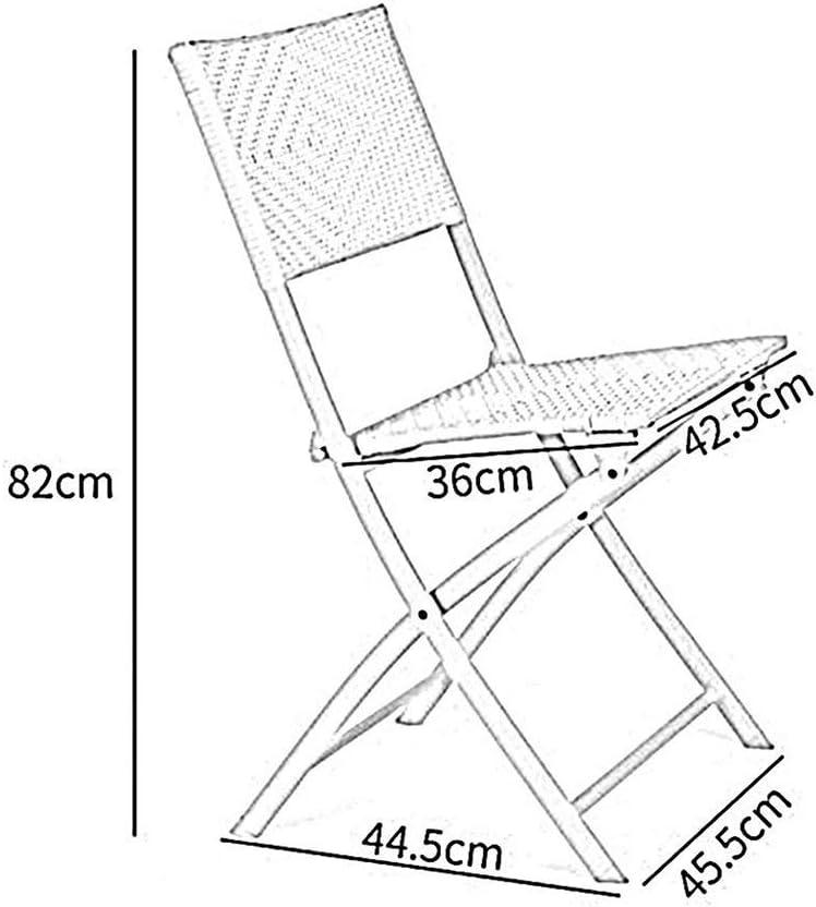 HLL Chaise Pliante, Chaise En Rotin Pliant Portable Balcon Repos Chaise Accueil Fauteuil Lazy Pliant Camping Lumière Extérieure Seat Voyage,D A